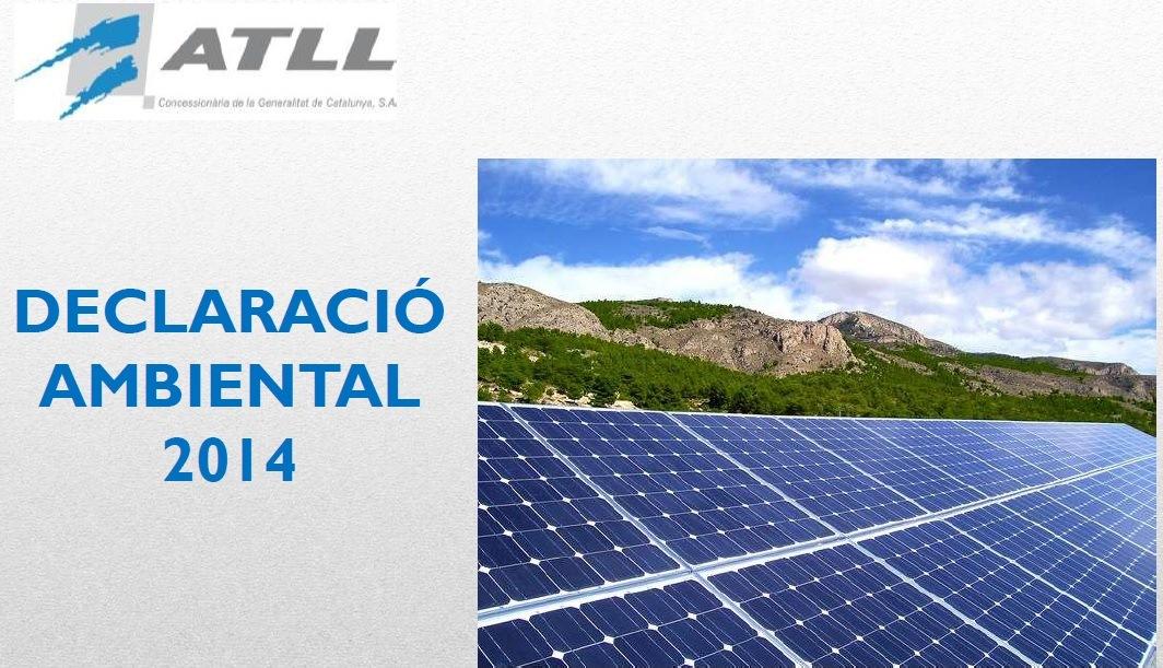 Declaración Ambiental ATLL 2014 cover