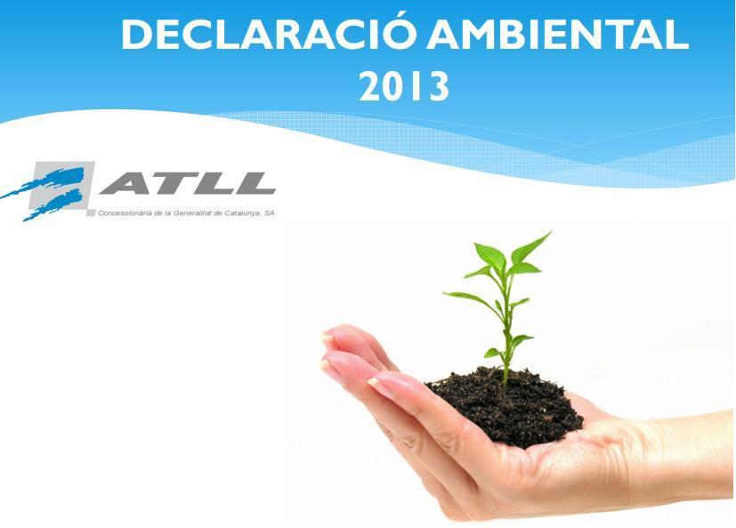 Declaración Ambiental 2013 cover