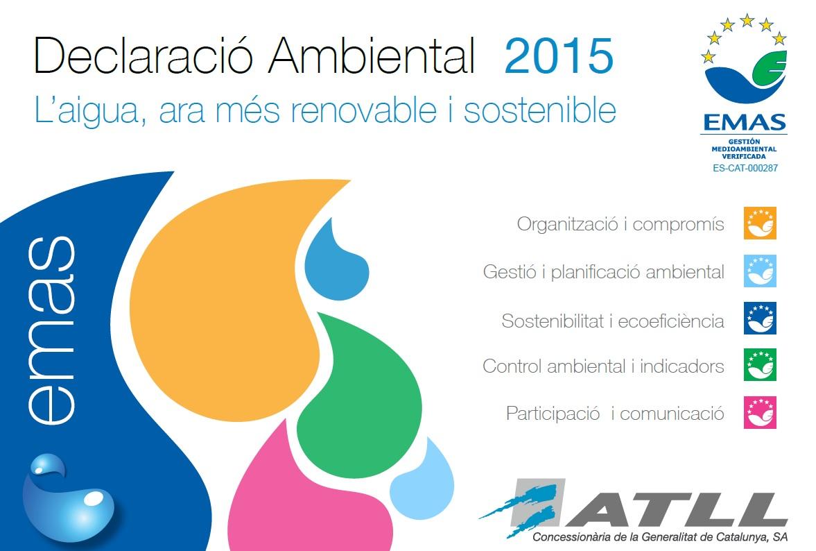Declaración Ambiental 2015 cover